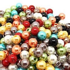 voordelige Kralen-leuke ronde multicolor imitatie parel diy kralen (500 stuks / stuk) (willekeurige kleur)