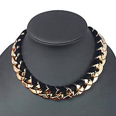 preiswerte Halsketten-Herrn Kreisförmig Halsketten Weinlese-Halsketten Acryl Baumwollflanell Halsketten Weinlese-Halsketten . Alltag Normal