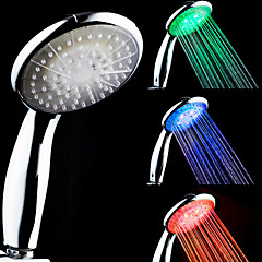 cheap LED Novelty Lights-3-Color Temperature Sensitive LED Color Changing Hand Shower