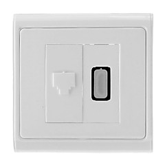 voordelige Nieuw Binnengekomen-HDMI V1.3 Female naar RJ45 Female Network Wall Plate / stopcontact (type A 19-pins connector)