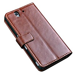 Luxe Retro Vintage Style Book Stand Wallet Leather Case voor de Sony Xperia Z L36H