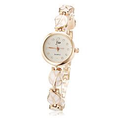 Dames Modieus horloge Armbandhorloge Kwarts Legering Band Bladeren Elegante horloges Wit Roze Wit Roze