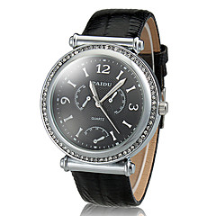 preiswerte Tolle Angebote auf Uhren-Herrn Kleideruhr Quartz Wasserdicht Band Analog Schwarz / Weiß - Gold / Weiß Silberschwarz Weiß / Silber