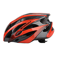 MOON Cycling Black+Orange PC/EPS 21 Vents Protective Ride Helmet