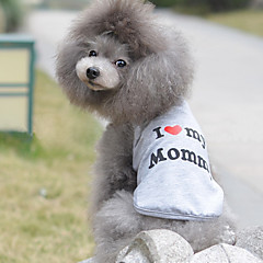 billige Kat Tøj-Kat Hund T-shirt Hundetøj Åndbart Sødt Afslappet/Hverdag Fødselsdag Hjerter Grå Kostume For kæledyr