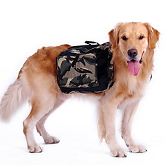 お買い得  犬用ウェア&アクセサリー-犬 バックパック 犬用ウェア カモフラージュ グリーン ナイロン コスチューム ペット用 男性用 女性用 スポーツ