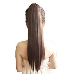 cinta de la cola de caballo cola de caballo recta calor postizo sintético extensión del pelo resistente