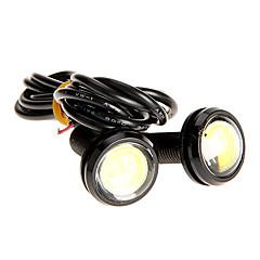 Недорогие Фары для мотоциклов-Пара 3W High Power LED Ультра-тонкий светодиодный Eagle Eye Фонарь Резервное копирование задние лампы белого цвета 2786