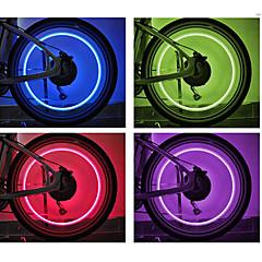 Radlichter Rad beleuchtet Ventilkappen Blinklichter LED Radsport Batterien Lumen Batterie Radsport-FJQXZ