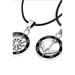 Ожерелья с подвесками Бижутерия анкер Кожа Сплав Уникальный дизайн Мода бижутерия Бижутерия Назначение Для вечеринок Повседневные Спорт