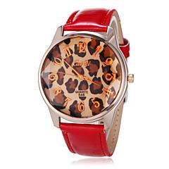 お買い得  大特価腕時計-女子アナログラインストーンラウンドPUバンドクォーツアナログ腕時計のダイヤル