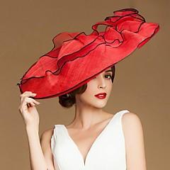 Недорогие Женские украшения-Модное Лен Женщины Свадьба / Прощание / Медовый месяц Hat с цветочным (больше цветов)