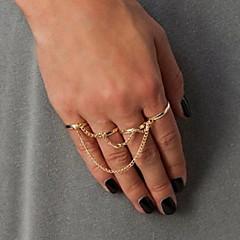 お買い得  指輪-女性用  -  合金 タッセル 7 ゴールド / ブラック / シルバー 用途 パーティー / 日常 / カジュアル
