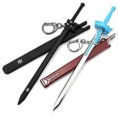 Daha Fazla Aksesuarlar Esinlenen Sword Art Online Kirito Anime Cosplay Aksesuarları Kılıç / Anahtarlık Siyah / Mavi Erkek / Kadın