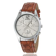 preiswerte Tolle Angebote auf Uhren-Damenwahl Einfache Linienmuster runden Zifferblatt PU-Band Quarz Analog Fashion Watch (Farbe sortiert)
