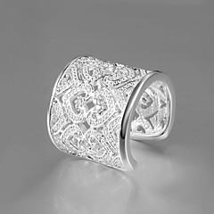 preiswerte Ringe-Damen Statement-Ring - Zirkon, Kubikzirkonia, versilbert Herz Erklärung, Europäisch Eine Größe Silber Für Party