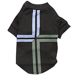 お買い得  犬用ウェア&アクセサリー-ネコ / 犬 Tシャツ 犬用ウェア 国旗 ブラック テリレン コスチューム ペット用