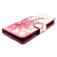 Plum Blossom Wallet PU Leather with Stand Case Cover for Sony Xperia Z1 mini Compact D5503