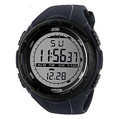お買い得  メンズ腕時計-SKMEI 男性用 スポーツウォッチ リストウォッチ デジタルウォッチ デジタル 30 m 耐水 アラーム カレンダー ラバー バンド デジタル ファッション ブラック / ブルー / グレー - ブラック グレー グリーン 2年 電池寿命 / クロノグラフ付き / LCD / Maxell626 + 2025