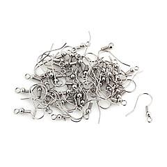 abordables Perlas-Plata de la aleación durable Ganchos 100 piezas / bolsa