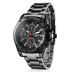 cheap Top Sellers-Men's Quartz Wrist Watch Casual Watch Alloy Band Charm Racing Black