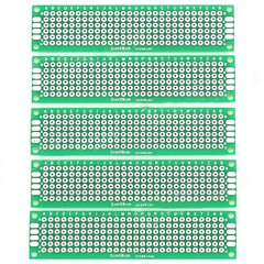 DIY Dual-Side staniu placate KB Boards - Silver + verde (5 buc)