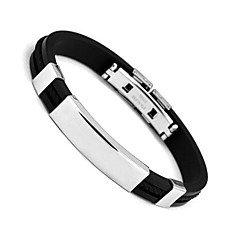 Men's Cuff Bracelet Personalized Fashion Stainless Steel Circle Jewelry For Daily Casual Sports