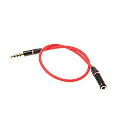 abordables Cables y Adaptadores-3,5 mm 0,25 M 0.8FT auxiliar Cable auxiliar de audio Jack macho a hembra Cable