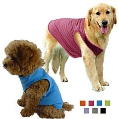 お買い得  犬用ウェア&アクセサリー-犬 Tシャツ 犬用ウェア ソリッド グレー パープル ローズ グリーン ブルー コットン テリレン コスチューム ペット用