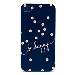 お買い得  iPhone 4s / 4 ケース-ヒナギクは、iPhone 4/4Sのための幸せなパターンハードケースである