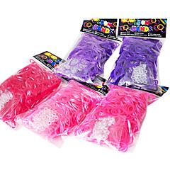 szivárvány színes szövőszék stílusú DIY Szíj anyaga gumiszalagot (300 db zenekarok + 12 db C vagy S klip)