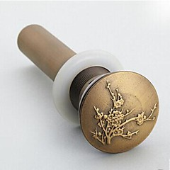 Antique Brass Pop-up Water Drain