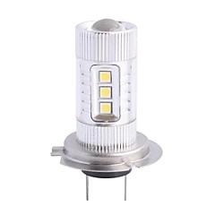billiga Dimljus-H7 80W 12xLED SMD 680LM 6500K White Light LED för bil Dimljus Strålkastare (DC12-24V)