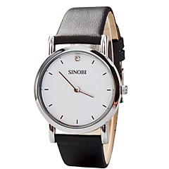 お買い得  大特価腕時計-女性用 日本産クォーツ レザー バンド ハンズ ブラック / ブラウン - ホワイト ブラック Brown