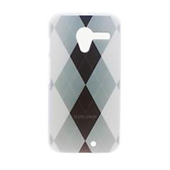 Недорогие Чехлы и кейсы для Motorola-Кейс для Назначение Motorola X Style Полноразмерные чехлы Однотонный Твердый Кожа PU для Motorola