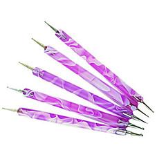 お買い得  ツールに点在-クリニーク2ウェイ点在ペン紫マーブル模様ツールマニキュア塗料マニキュアドット
