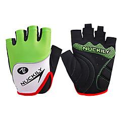 Nuckily Rękawiczki sportowe Rękawiczki rowerowe Zdatny do noszenia Oddychający Wearproof Ochronne Odporny na wstrząsy Bez palców Lycra