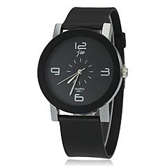 preiswerte Damenuhren-Damen Quartz Armbanduhr Armbanduhren für den Alltag Silikon Band Charme Modisch Schwarz
