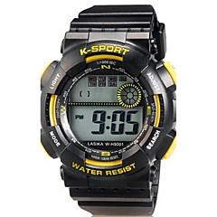 preiswerte Herrenuhren-Sportuhr Armbanduhr Quartz Silikon Band digital Freizeit Schwarz - Schwarz Gelb Blau Zwei jahr Batterielebensdauer / Maxell626 + 2025