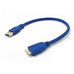 preiswerte Kabel & Adapter-0,3 m 1 ft USB 3.0 A Stecker auf Micro-B Stecker Verlängerungskabel blau