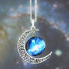 cheap Necklaces-Women's Pendant Necklace  -  Fashion Blue Necklace For Wedding Party Daily