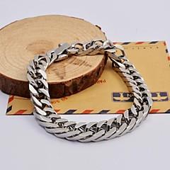 preiswerte Armbänder-Herrn Ketten- & Glieder-Armbänder - Edelstahl Einzigartiges Design, Modisch Armbänder Silber Für Weihnachts Geschenke Alltag Normal