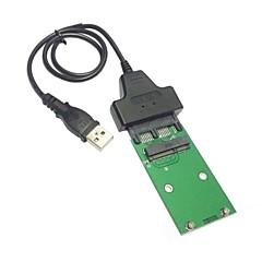 """voordelige Nieuw Binnengekomen-USB 2.0 naar mini pci-e mSATA SSD 1,8 """"micro sata 7 + 9 16pin adapter toe te voegen op kaarten pcba voor ssd harde schijf"""