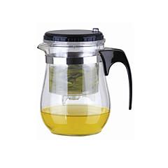 abordables Accesorios para té-Fácil Push Button Colador Glass Tea Pot Con Lock (500 ml)