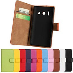Solid Color Pattern PU Leather Full Body Case with Stand and Card Slot for Huawei Y300