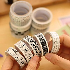 Black And White Decorative Tape(Random Color 1 PCS) For School / Office