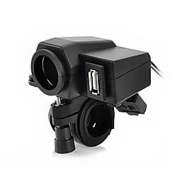 Недорогие Автоэлектроника-jtron мотоцикл водонепроницаемый блок питания Cigrette гнездо - черный