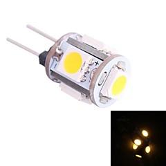 G4 0.5W 45LM 3500K 5x5050 Warm White LED Light Bulb(DC 12V)