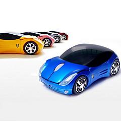 billiga Datortillbehör-2.4GHz trådlös super bil mönster optisk mus (blandade färger)