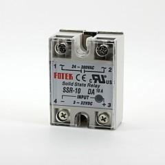 abordables Relés-Fotek relé de estado sólido monofásico SSR-10da dc-ac 3-32v / 24-380v 10a